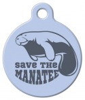 image: Manatee Conservation Pet Collar Tag