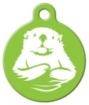 image: Otter in Lime ID Tag for Dogs or Cats