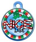image: Nice List Custom Pet ID Tag
