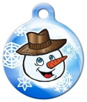 image: Smiley Mister Snowman ID Tag for Pets