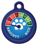 image: Christmas Meter - Naughty! Dog or Cat ID Tag