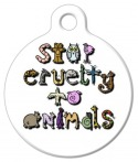 image: Stop Animal Cruelty Pet Collar Tag