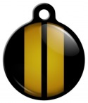 image: Gold Stripe Pet Identity Tag