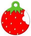 image: Strawberry  Pet ID Tag