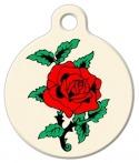 image: Classic Rose Tattoo Pet Tag
