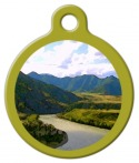 image: River Landscape Pet Name Tag