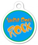 image: Shelter Dogs Rock Dog ID Tag