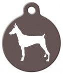 image: Doberman Pinscher Silhouette Pet Tag