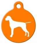 image: Pointer Silhouette Pet Tag