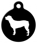 Rottweiler Silhouette Dog Tag