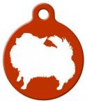 image: Pomeranian Silhouette Pet ID Tag