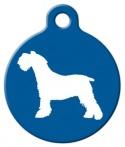 image: Miniature Schnauzer Silhouette ID Tag