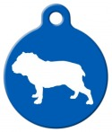 image: Bull Dog Silhouette ID Tag
