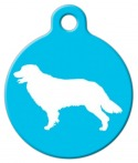 image: Golden Retriever Silhouette Tag
