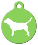 image: Beagle Silhouette ID Tag