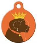 image: Queen Bee Dog ID Tag