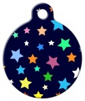 image: Colorburst Stars Dog or Cat ID Tag