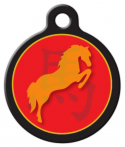 image: Chinese Zodiac - Horse Pet ID Tag
