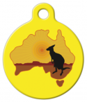 image: Kangaroo Australia ID Tags for Cats or Dogs