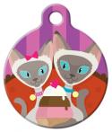 image: Siamese Sundae Pet ID Tag