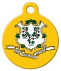 image: Connecticut State Emblem Pet Tag