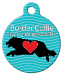 Border Collie Love Dog Collar Tag