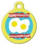 image: Breakfast Plate Pet ID Tag