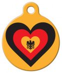 Germany Heart Pet ID Tag