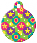 image: Circles and Stars Pet ID Tag