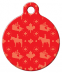 image: Oh Canada! Patriotic Pattern ID Tag