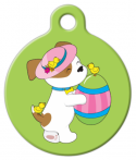 image: Easter Puppy with Egg Pet Tag