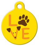 image: Dog Love Graphic ID Tag