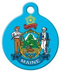 image: Maine State Emblem Pet ID Tag