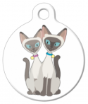 image: Siamese Cats Pet ID Tag