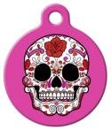 image: Dia De Los Muertos Sugar Skull Pet ID Tag