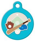 Baseball Stuff Pet ID Tag