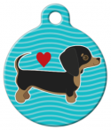 image: Dachshund Pup Love ID Tag for Dogs