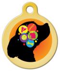 image: Dog Brain in Yellow Custom ID Tag