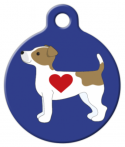 image:  Jack Russell Terrier Pup ID Name Tag