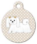 image: Maltese Cutie Dog ID Tag