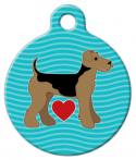 image:  Airedale Pup Love Designer Name Tag
