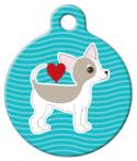 image: Chihuahua Pup Love Dog ID Tag