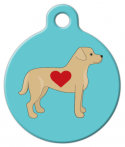image: Labrador Love Dog ID Tag
