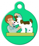 image: Love My Veterinarian Dog ID Tag