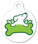 image: Green Paw Dog ID Tag