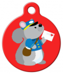 IMAGE: Postal Squirrel Custom Tag for Dogs