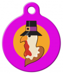 image: Cartoon Turkey Pilgrim ID Tag