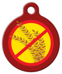 image: No Wheat - Gluten Allergy ID Tag