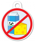 image: No Dairy - Lactose Intolerant Custom ID Tag