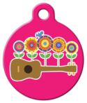 image: Ukulele Flowers Retro ID Tag